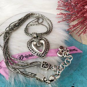 Brighton Ellington Double Heart 3 Strand Necklace